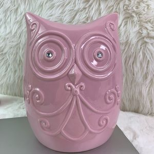 Argento Ceramic Fancy Owl Bank in Pink